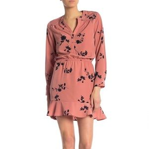 Joie Pink Acey Floral Ruffle Dress